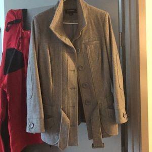 Grey pea coat juniors size M